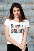 Blusa Feminina Esquadrão Suicida Logo Colors