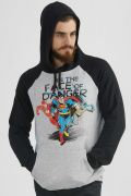 Moletom Raglan DC Comics Face of Danger
