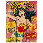 Placa de Madeira Wonder Woman Capa