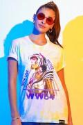 T-shirt Feminina Mulher Maravilha 1984 Truth Love Justice