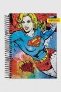 Caderno Power Girls Supergirl 10 Matérias