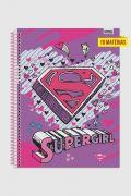Caderno Supergirl Logo Gift 10 Matérias