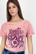 T-shirt Destroyed Feminina Harley Quinn He Loves Me