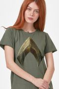 T-shirt Feminina Aquaman Logo Movie