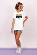 T-shirt Feminina Batman Logo Love Unites