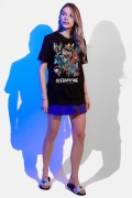 T-shirt Feminina Fandome Jim Lee Pôster