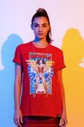T-shirt Feminina Mulher Maravilha 1984 Heroína Pose