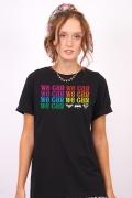 T-shirt Feminina We Can Mini Logos