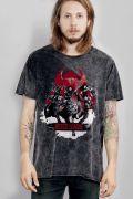 T-shirt Marmorizada Liga da Justiça Against Evil
