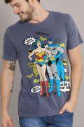 T-shirt Premium Masculina Batman e Mulher Maravilha Perfect Together