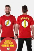 Camiseta Masculina The Flash Logo Name