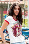 NÃO ATIVAR Camiseta Ringer Feminina Mulher Maravilha Equality