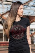Camiseta Feminina Mulher Maravilha Logo Power Love