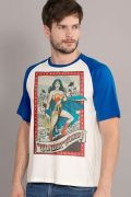 Camiseta Raglan Masculina Mulher Maravilha Lady of Hope