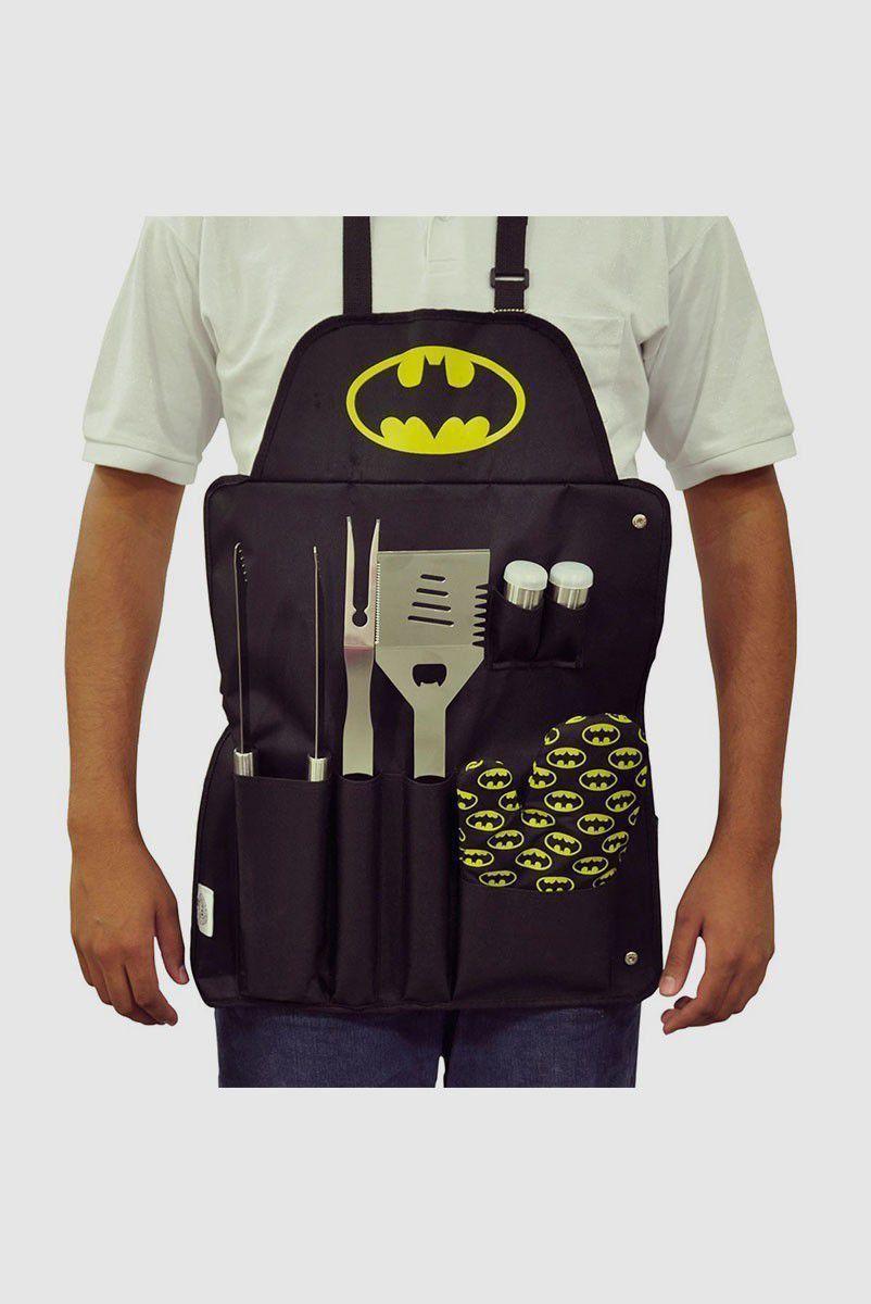 Kit Churrasco com 7 peças Batman Logo