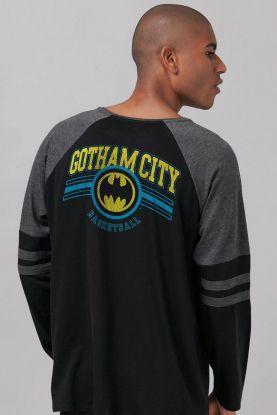 Blusa Raglan Masculina Batman Basketball