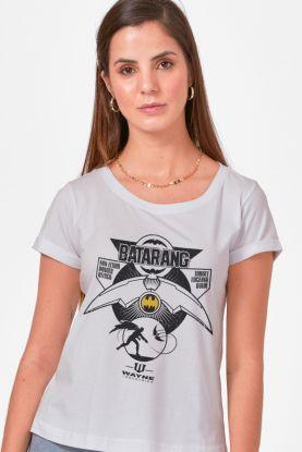 Camiseta Feminina Batman Batarang