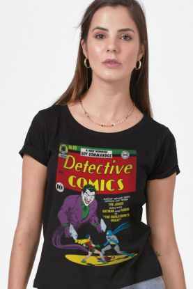Camiseta Feminina Batman Capa Coringa