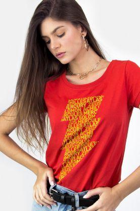 Camiseta Feminina Shazam Thunder