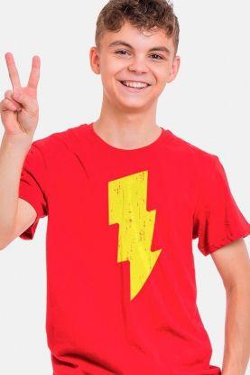 Camiseta Infantil Shazam Raio
