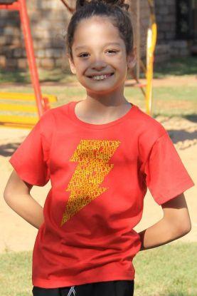 Camiseta Infantil Shazam Thunder