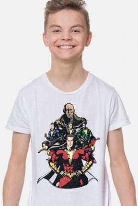 Camiseta Infantil Branca Shazam VS Doctor Sivana