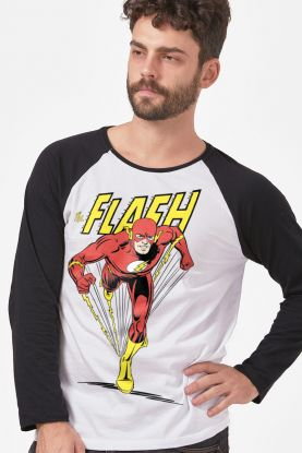 cede3298cd Camiseta Manga Longa Masculina The Flash Originals