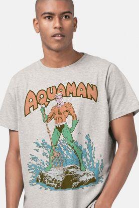Camiseta Masculina Aquaman Classic Hero
