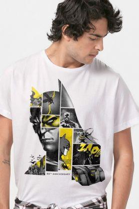 Camiseta Masculina Batman 80 Anos As Faces de Batman