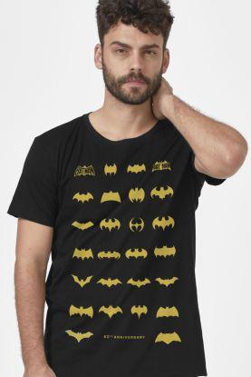 Camiseta Masculina Batman 80 Anos Logos Collection