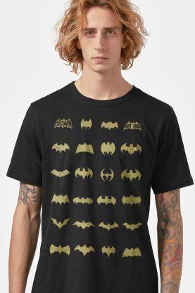 Camiseta Masculina Batman Logos Collection