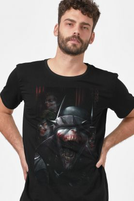 Camiseta Masculina Batman Que Ri Criaturas