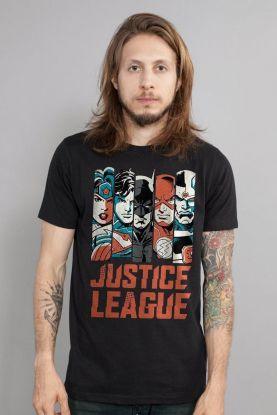 Camiseta Masculina DC Comics Justice League