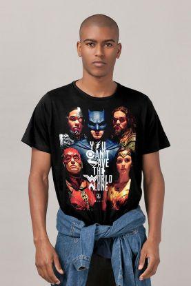 Camiseta Masculina Liga da Justiça Poster