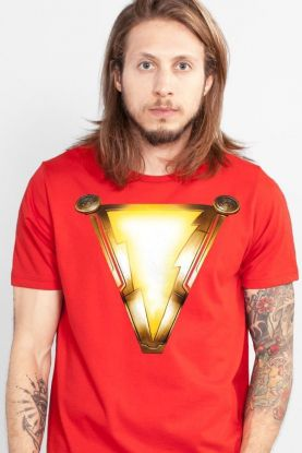 Camiseta Masculina Shazam Logo Movie