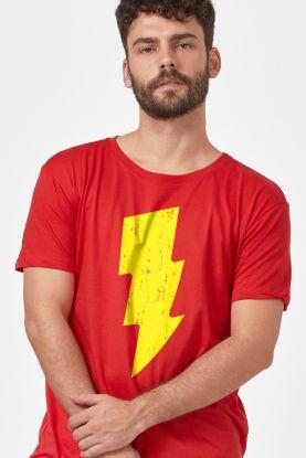 Camiseta Masculina Shazam Raio