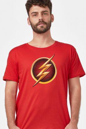 Camiseta Masculina The Flash Serie Logo Gold