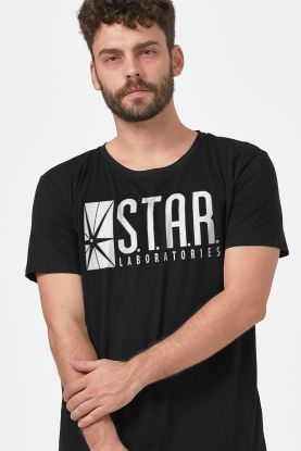 Camiseta Masculina The Flash Serie STAR Laboratories