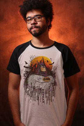 Camiseta Raglan Masculina Batman Eclipse