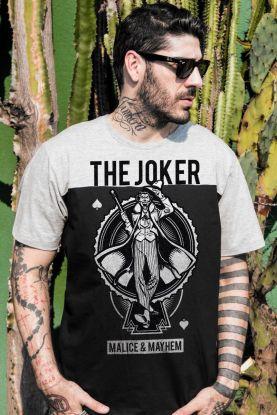 Camiseta Masculina BiColor Coringa Malice & Mayhem