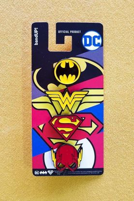 Kit 4 Pins de Metal DC Comics