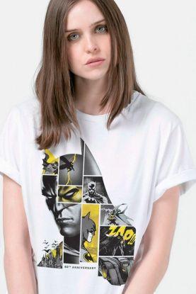 T-Shirt Feminina Batman 80 Anos As Faces de Batman