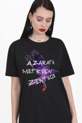 T-shirt Feminina Jovens Titãs Ravena Azarath Metrion Zinthos