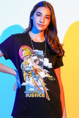 T-shirt Feminina Mulher Maravilha 1984 Fight For Justice