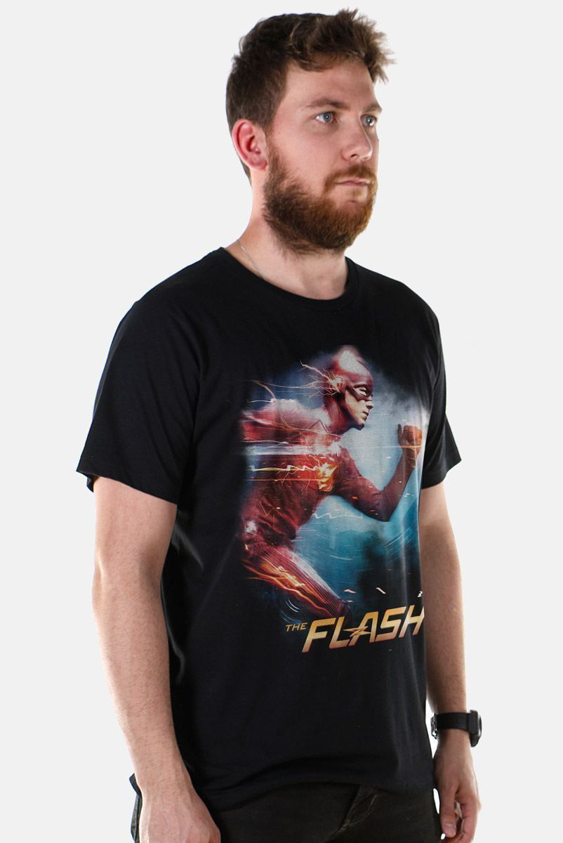 NÃO ATIVAR Camiseta Masculina The Flash Serie Running