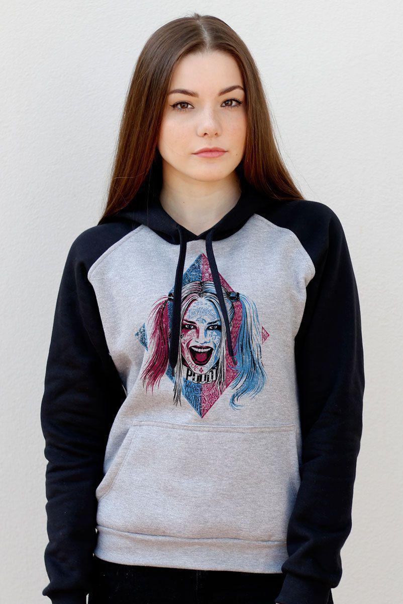 Moletom Raglan Esquadrão Suicida Harley Quinn Puddin