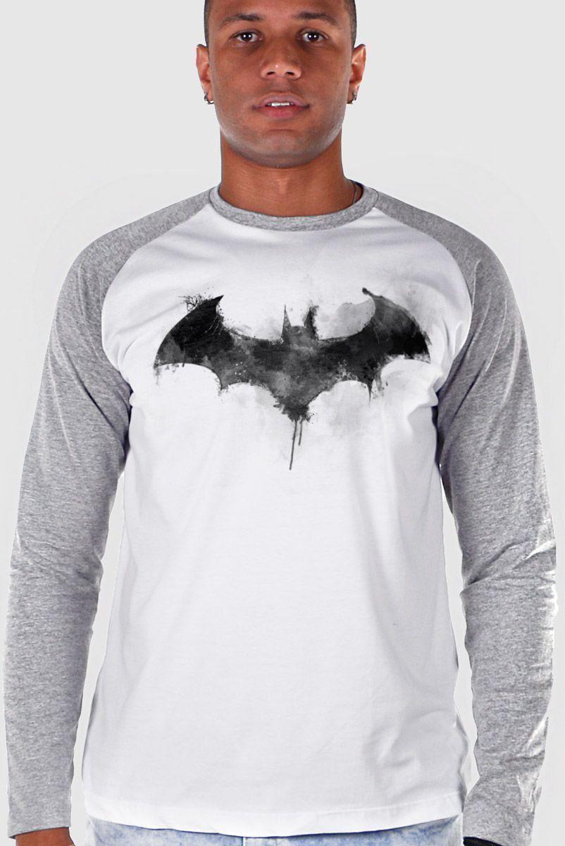 Camiseta Raglan Masculina Batman Bat