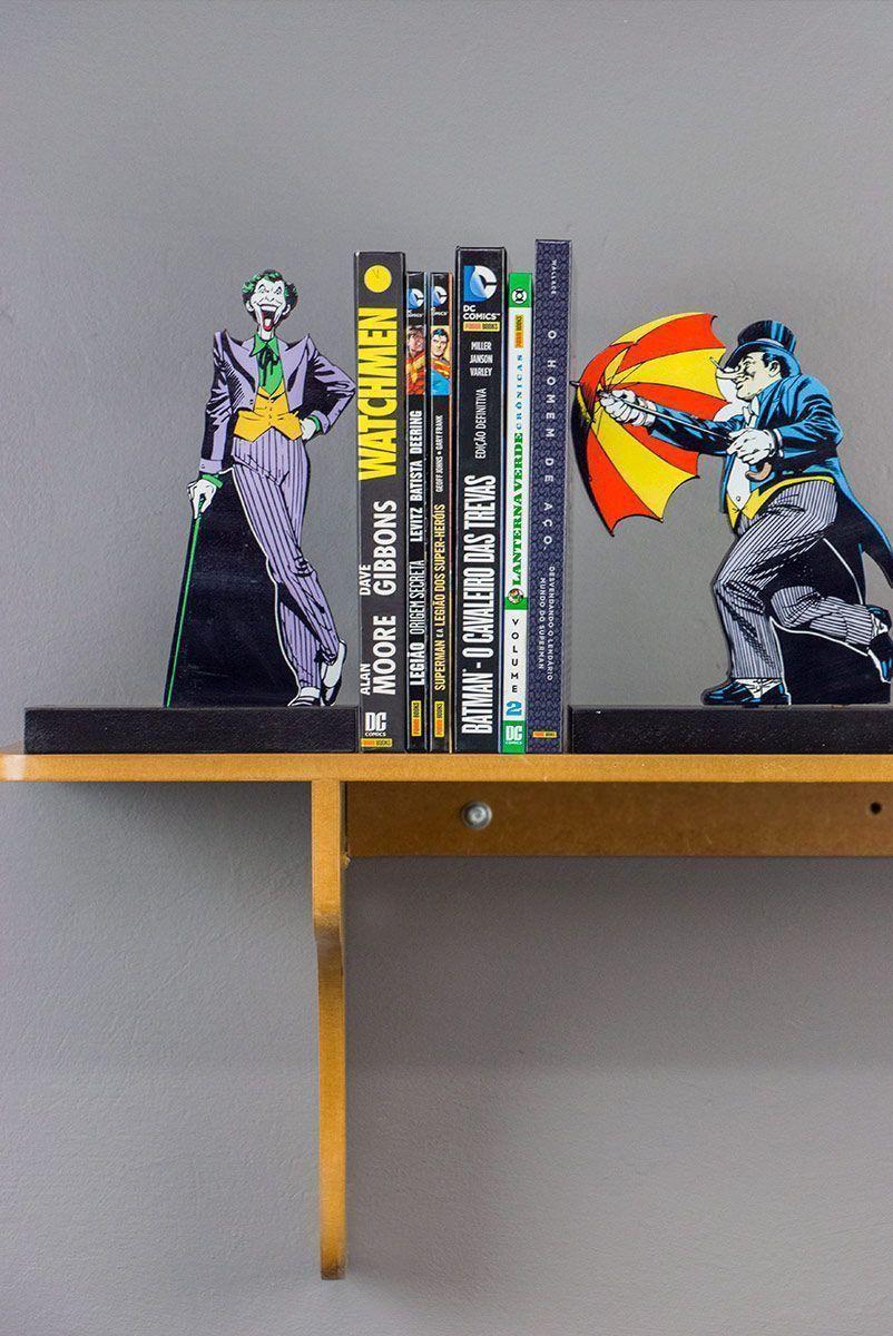 Aparador de Livros Coringa e Penguin
