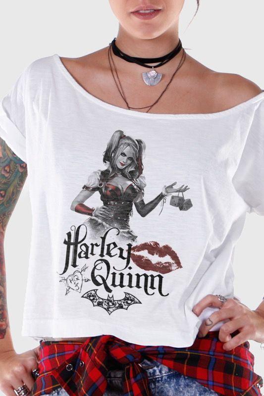 T-shirt Premium Feminina Harley Quinn Kiss