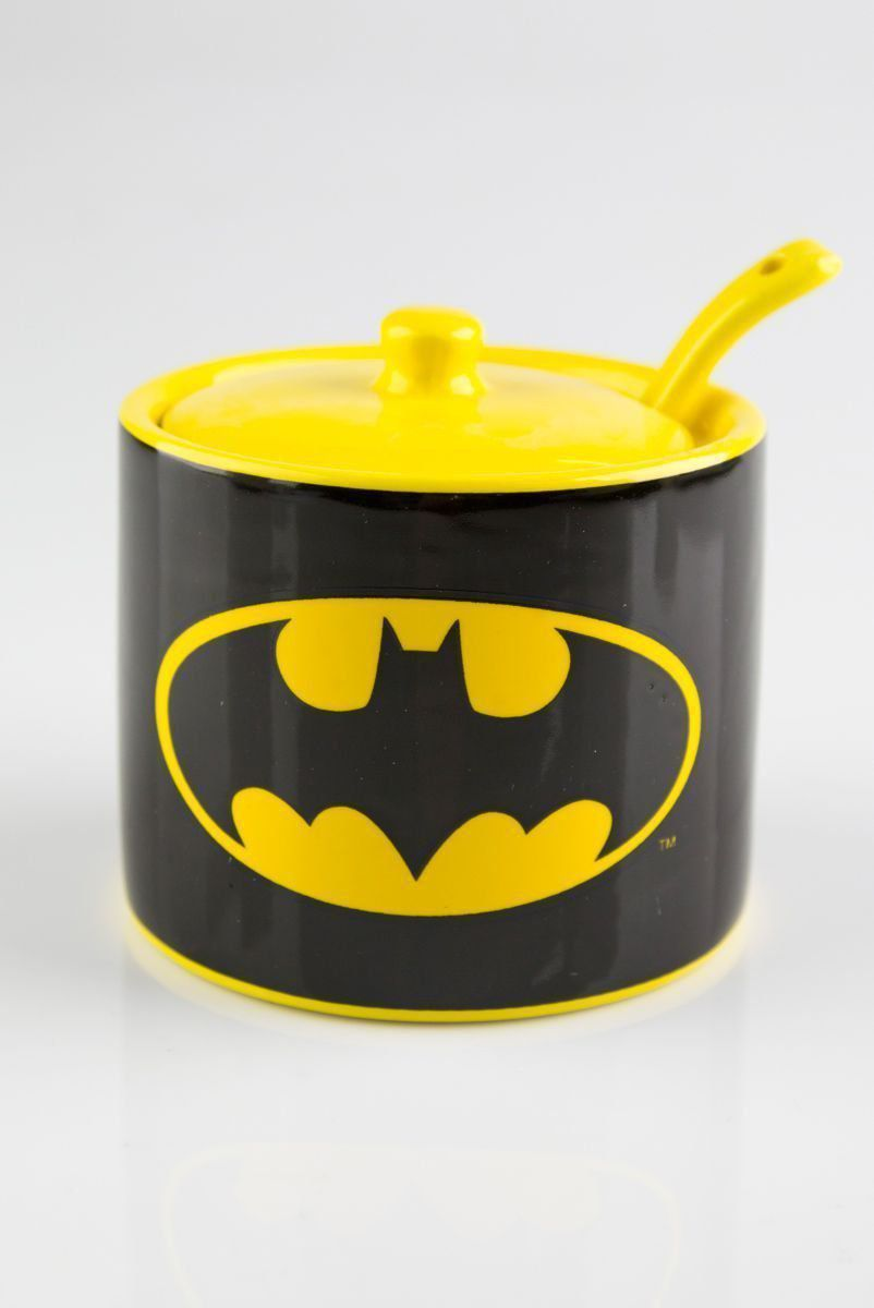 Açucareiro Cerâmica DC Logo Batman